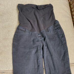 Motherhood maternity black denim full panel jeans